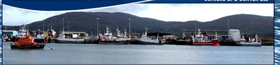 Trawlers tied up at new pier